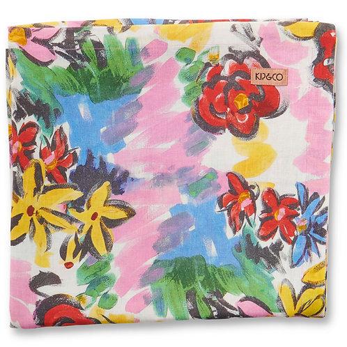 Rio Floral Linen Table Cloth