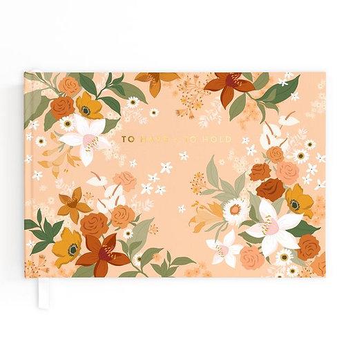 Wedding Guest Book Floral