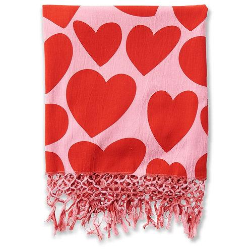 Big Hearted Cotton Hammam Towel