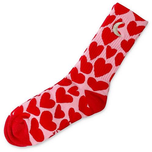 Big Hearted Ribbed Socks