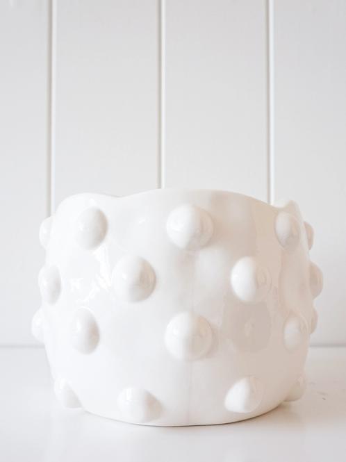 Pot/ Planter - Bubble - White