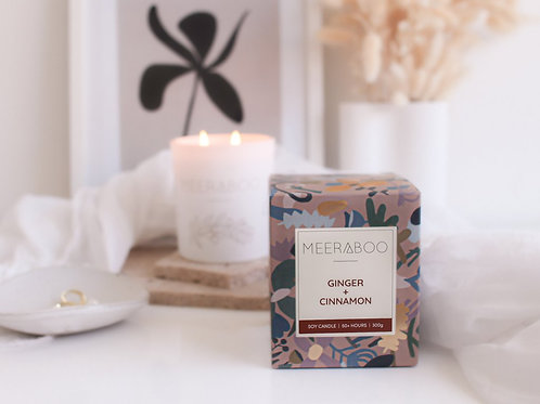 Ginger + Cinnamon Soy Boxed Candle