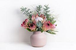 A elegant flower arrangement of a pink k
