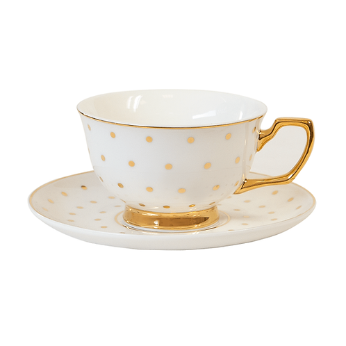 Teacup Polka Gold Ivory