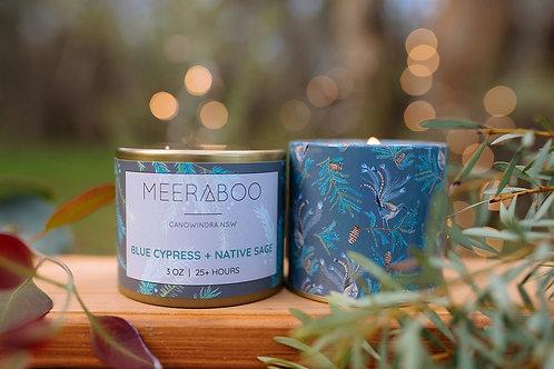 Blue Cypress + Native Sage - Travel Tin Candle
