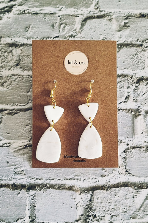 Jagger -White and Marbled Natural Dangle