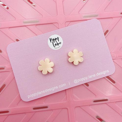 Flower Studs - Pale Pink