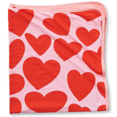 Big Hearted Organic Stroller Blanket