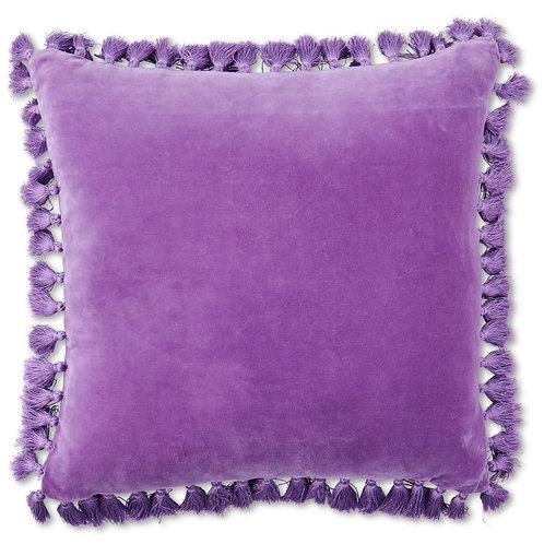 Amethyst Velvet Tassel Cushion - OneSize