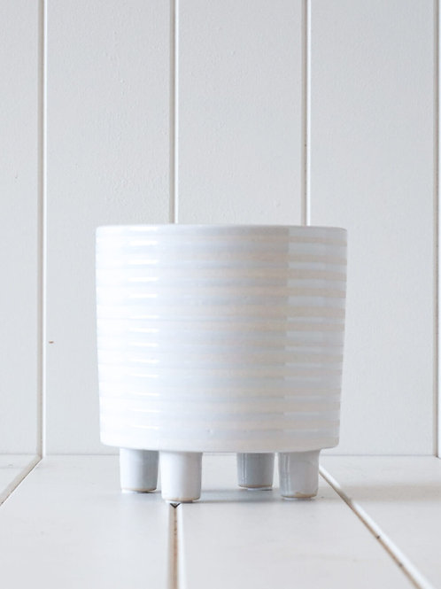 Footed Pot/Planter White