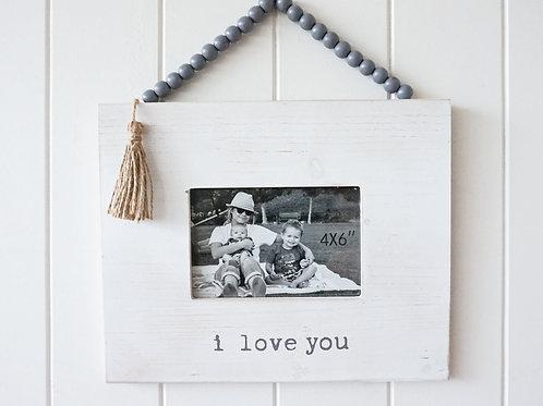 """I Love You"" Hanging Photo Frame"