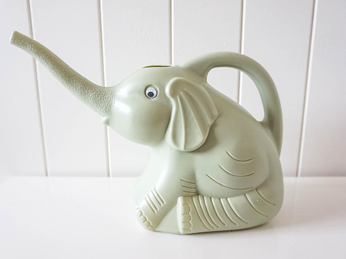 Elephant Watering Can Green