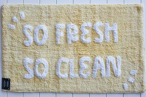 So Fresh So Clean - Bath Mat - Yellow