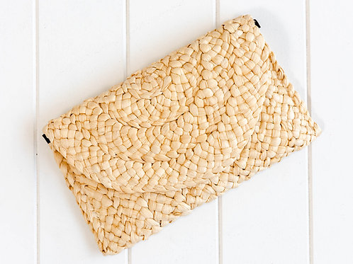 Natural Woven Clutch Bag