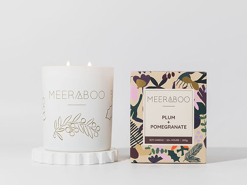Plum + Pomegranate Soy Boxed Candle