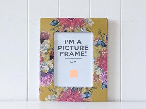 Photo Frame - Mustard Florals