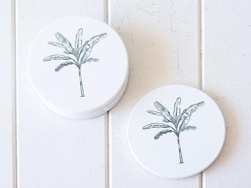 Banana Palm - Ceramic Coaster