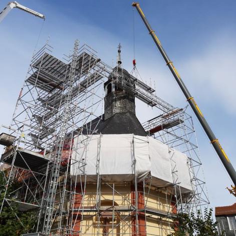 Dachsanierung der Hospitalkirche verlängert sich aufgrund der Winter-Wetterlage
