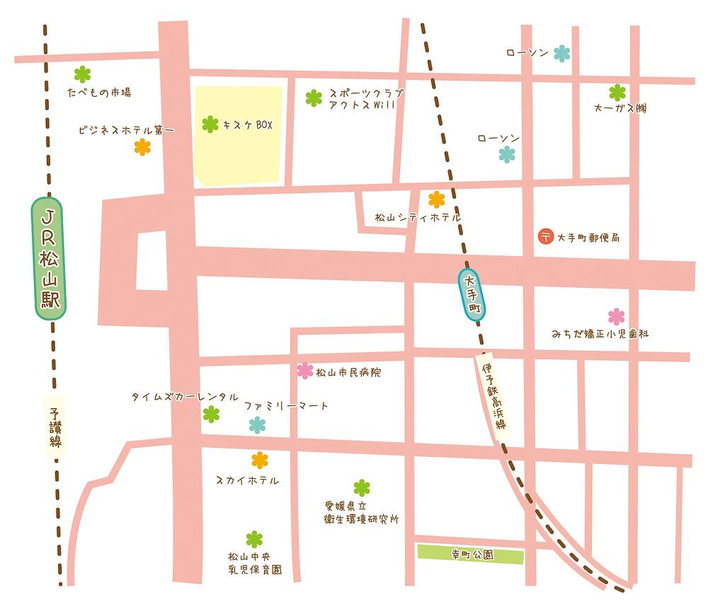 シンプルだけどカワイイ地図制作