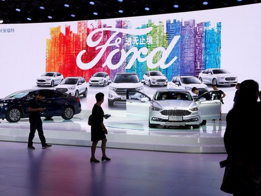 FORD TO TIE UP WITH CHINA ALIBABA TO TEST ONLINE SALES