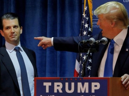 TRUMP'S SON FACING QUESTIONS FROM LAWMAKERS