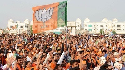 TOI PREDICTS THAT BJP WILL BE THE LARGEST PARTY IN GUJARAT