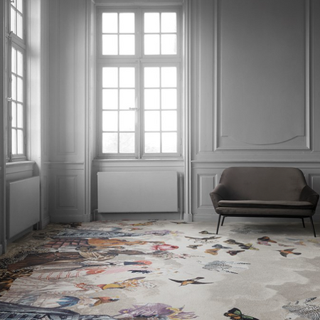 EGE Carpets is proud to be leading the way by challenging the interior settings of the rooms that frame our lives. Their urge to explore space drives them to experiment with the fundamental perception of any room, making well-known elements seem new and compelling.