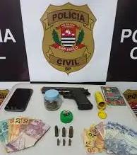 DISE dispara a Operação Conexão o localiza Pistola e muita droga.