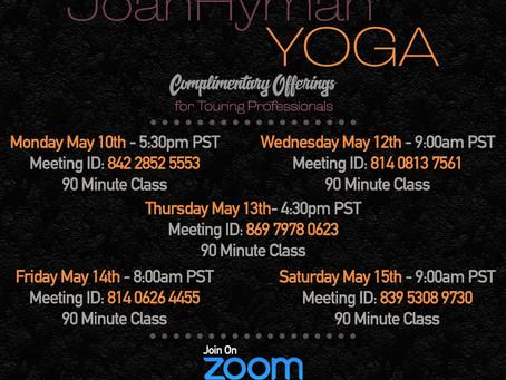 This week's FREE yoga information