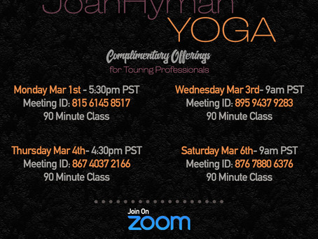 This week's FREE yoga information
