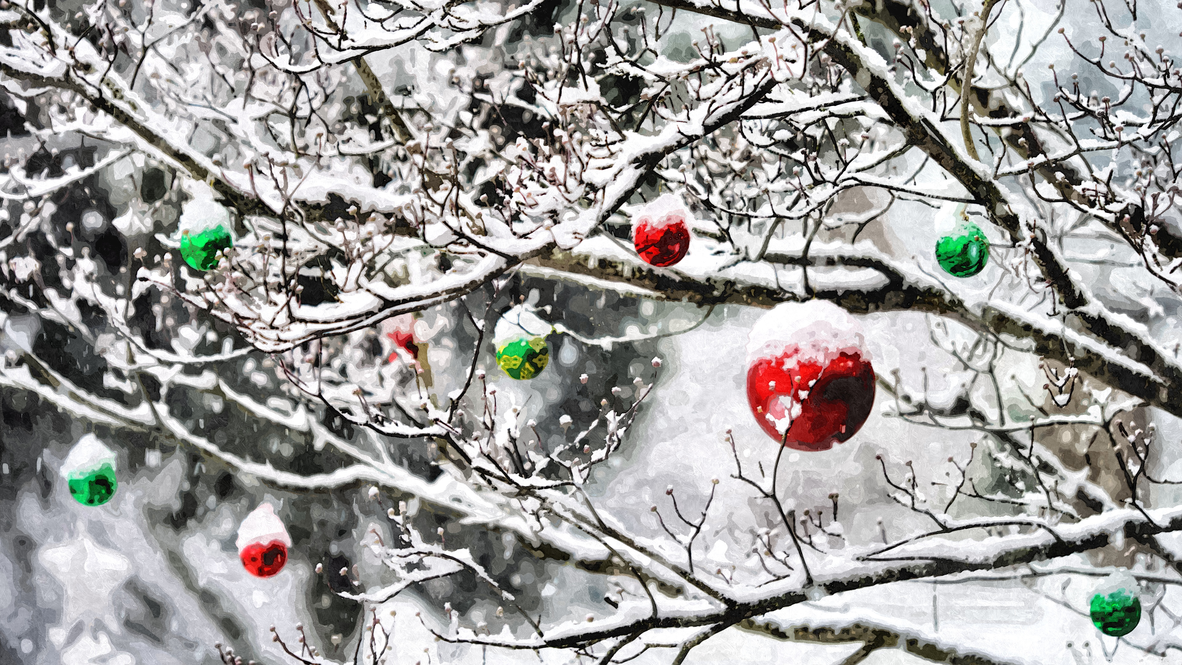 christmas_ornaments_in_the_snow-wallpape