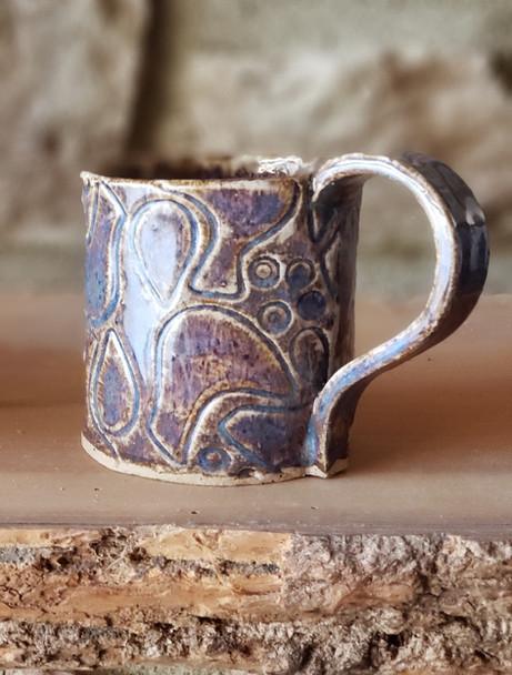 Purple Bird Textured Mug
