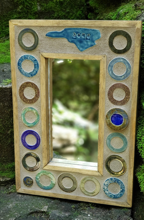 Ceramic and Glass Tiled NC Mirror