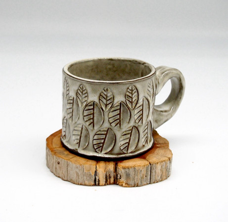 Stamped White Mug