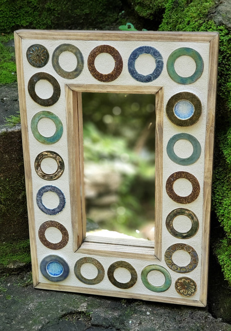 Ceramic and Glass Tiled Mirror