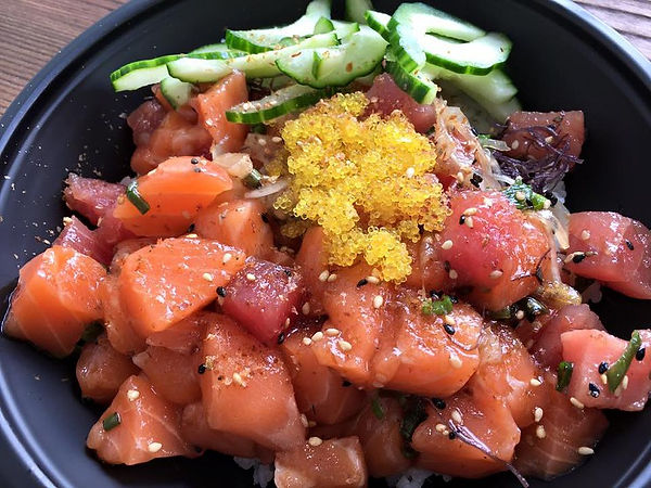 Salmon, Ahi Tuna, Houston Poke, Big Kahuna