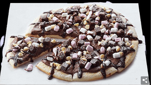 Dominoes Chocolate Pizza