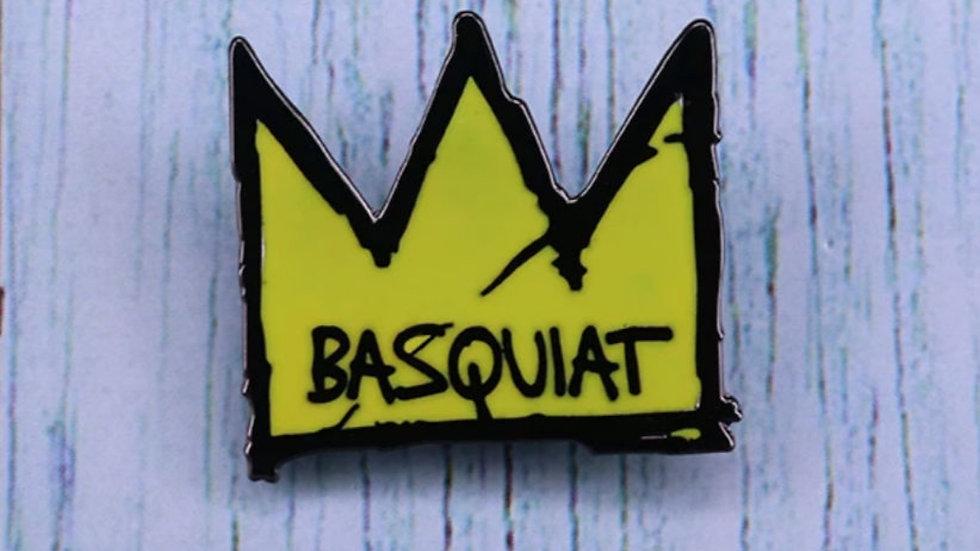 Basquait Crown Pin