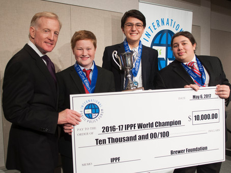 Westfield Academy Students Win International Public Policy Forum and $10,000 Grand Prize in New York
