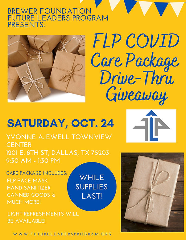 FLP Covid Care Package Giveaway Flier 20