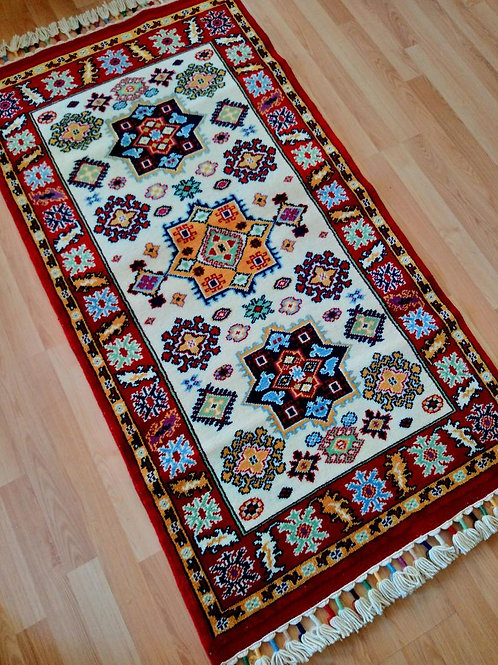 Turkish Sirvan Oriental Handmade Red Rug
