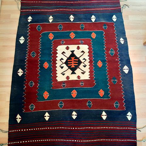 Turkish Vintage Handmade Kilim Rug