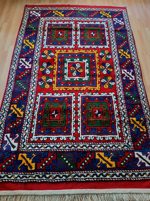 Turkish, Canakkale Ayvacik, Vegetable Dye Very Rare Handmade Carpet