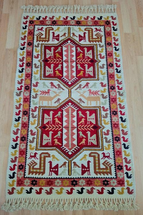 Turkish Soumak Handmade Kilim Rug