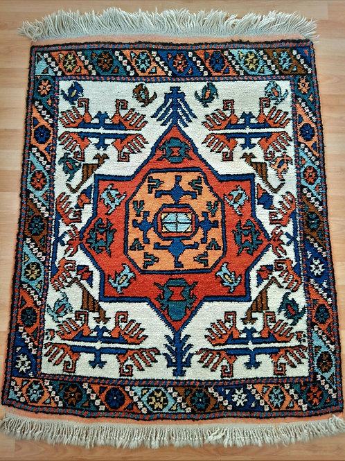 Turkisah Canakkale Ayvacik Vintage Handmade Small Rug