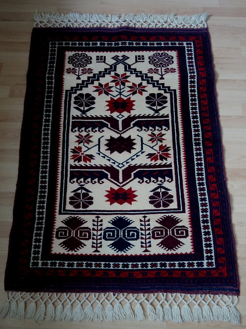 Turkish, Yagcibedir Handmade Claret Red Rug