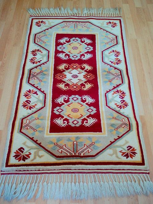 Turkish Milas Handmade Anatolian Red Rug