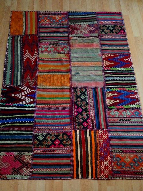 Turkish Handmade Patchwork Kilim Rug