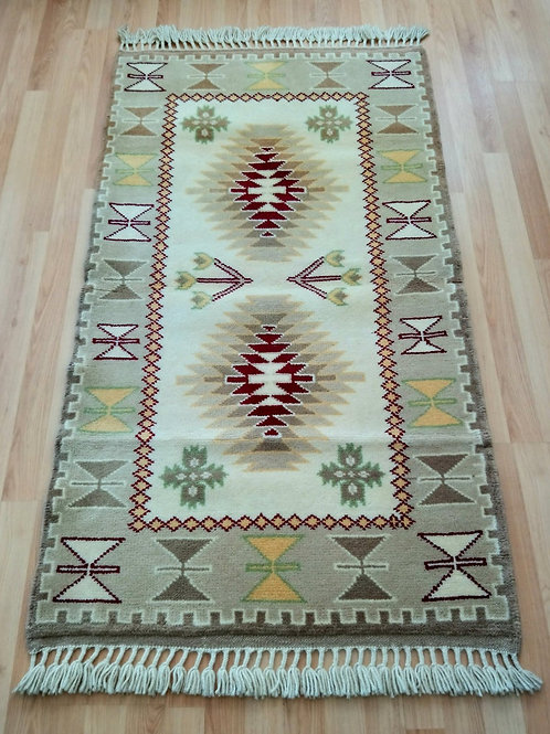 Turkish Kars Handmade Gray Rug