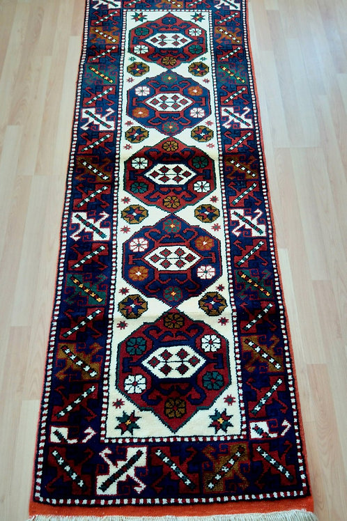 Turkish Canakkale Ayvacik Runner Rug